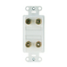 On-Q/Legrand Plastic Banana Binding Post Wall Jack