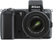 Nikon - 1 V2 14.2-Megapixel Digital Compact System Camera with 10-30mm and 30-110mm Lenses - Black