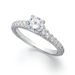 X3 Diamond Ring, 18k White Gold Certified Diamond Pave Solitaire Engagement Ring (1-1/4 ct. t.w.)