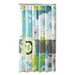 METRO LUXE Polyester Multicolor Patterned Shower Curtain