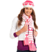 American Rag Hat and Scarf, Jacquard Heart Beret and Scarf