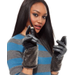 Charter Club Gloves, Leather Faux Fur Stretch Gloves