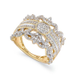 Diamond Ring, 14k Gold Diamond Vintage Crown Ring (3/4 ct. t.w.)
