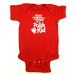"""Never Underestimate the Power of a Polish Kid"" Baby Onesie Romper - Red"