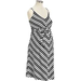 Maternity Chevron-Stripe Tie-Belt Dresses