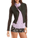 Lace & PU Motorcycle Jacket
