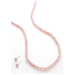 Belk Silverworks Pink Cultured Pearl Necklace with Pink Pearl Earring Set