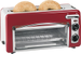 Hamilton Beach - ensemble Toastation 2-Slice Toaster Oven - Red