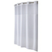 Hookless Polyester White Shower Curtain