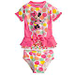 She'll be a bathing beauty in this scrumptuous swimwear featuring colorful spots and Minnie, who's all smiles as she eyes her ice cream. The 2-piec...