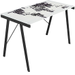 LumiSource - World Map Office Desk - White/Black