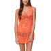 Empyre Girls Neon Coral Crochet Tank Dress