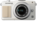 Olympus - PEN E-PM2 16.1-Megapixel Digital Compact System Camera with 14-42mm Zoom Lens - White
