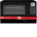 Sharp - Steamwave Microwave Oven - Black, Red